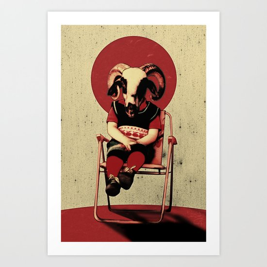 SIT TIGHT Art Print