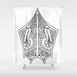 Huia Maori Art Kowhai Flower Shower Curtain