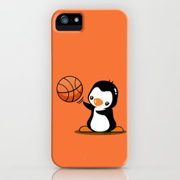 Basketball Penguin (2) iPhone Case