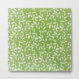Rustic Mistletoe - Greenery Metal Print