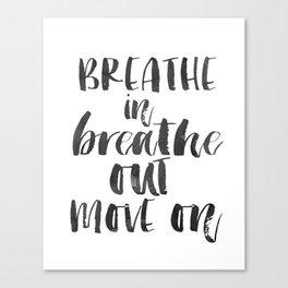 Breathe Quote Just Breathe Quote YOGA ZEN POSTER Canvas Print