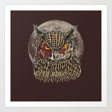 Zombie Owl Art Print