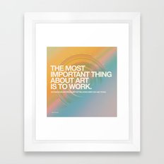 DAY 3000 (07.18.15) Framed Art Print