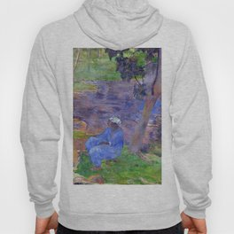 "Paul Gauguin ""On the shore of the lake at Martinique"" Hoody"