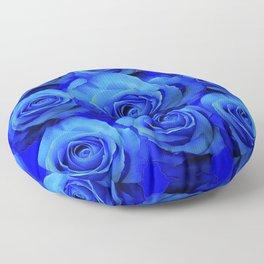 AWESOME BLUE ROSE GARDEN  PATTERN ART DESIGN Floor Pillow