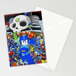 Fight Mega Man, For Everlasting Peace! Stationery Cards