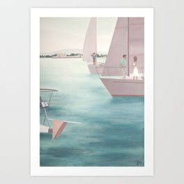The Boat (Right) Art Print