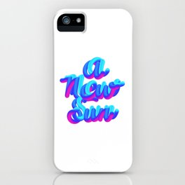 A new sun typography 3d M83 iPhone Case