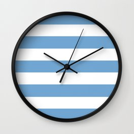 Iceberg - solid color - white stripes pattern Wall Clock