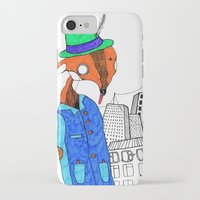 mr fox iPhone & iPod Cases featuring Mr. Fox by Diana Hope