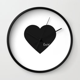 HEART WALL DECOR, Heart Print,Black Heart,Love Quote,love Art,Lovely Words,Printable Art,Love Decor, Wall Clock