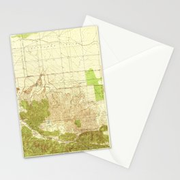 Manzana, CA from 1938 Vintage Map - High Quality Stationery Cards