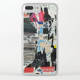 decollage Clear iPhone Case