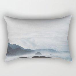 Mist Over Cannon Beach Rectangular Pillow