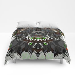 Fun with creature Faces Comforters