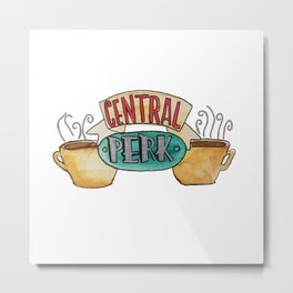 Central Perk from Friends TV Show Metal Print