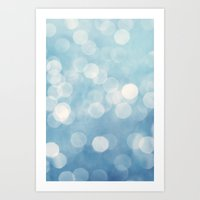 bokeh Art Prints featuring bokeh by Claudia Drossert