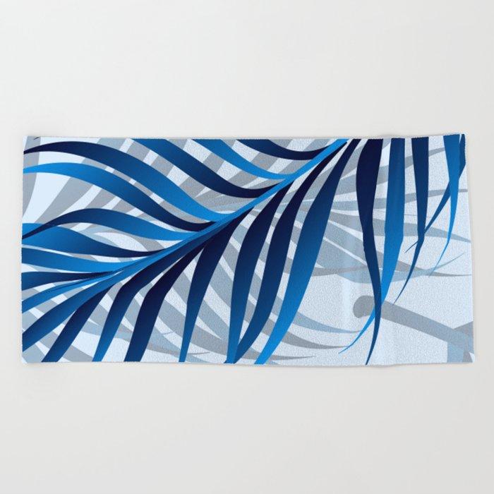 Blue Tropic Beach Towel