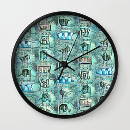 Hats and Caps. Wall Clock