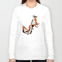 literature Long Sleeve T-shirts featuring literature fox 2 by vasodelirium