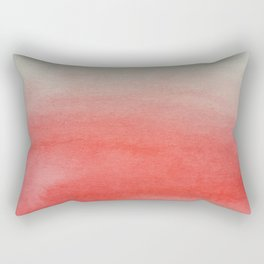 Ombre Watercolor red Rectangular Pillow