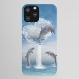 The Heart Of The Dolphins iPhone Case