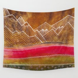 Lines in the mountains 01 Wall Tapestry