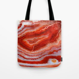 Red Agate Tote Bag