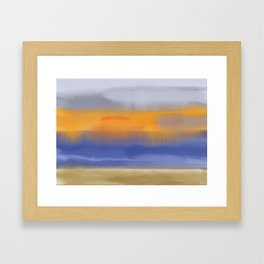 Sunshine through rain Framed Art Print