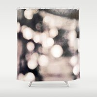 champagne Shower Curtains featuring Pink Champagne by Bella Blue Photography