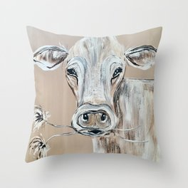 """Marge""  the Cow Throw Pillow"