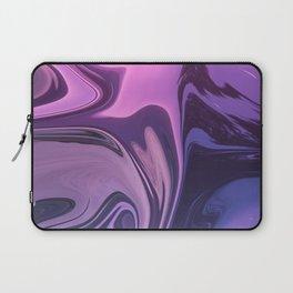 liquid digital painting purple and blue Laptop Sleeve