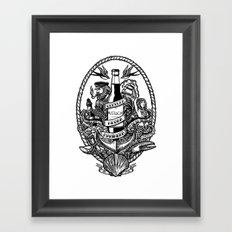 Cerveza Mustache Framed Art Print
