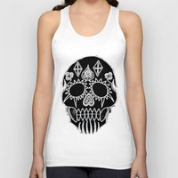 led zeppelin Tank Tops featuring LED Skull by Max Wellsman