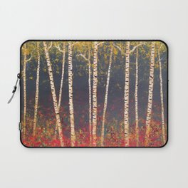 Birch Trees in the Fall Laptop Sleeve