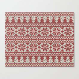 Traditional Christmas Pattern Canvas Print