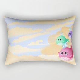 Tiny whales Rectangular Pillow