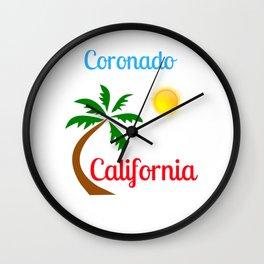 Coronado California Palm Tree and Sun Wall Clock