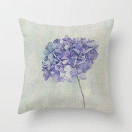 Beautiful Blue Hydrangea Throw Pillow