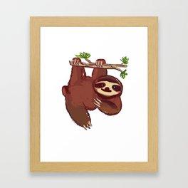 Adorable Sloth Framed Art Print