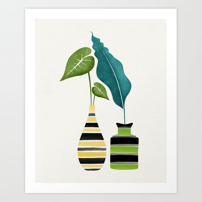 Pop Greenery Art Print