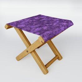 Marbled Paisley - Purple Folding Stool