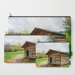 Historic Log Cabin Carry-All Pouch