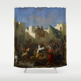 "Eugène Delacroix ""The Fanatics of Tangier"" Shower Curtain"