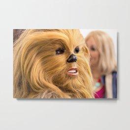 Chewbacca in Love Metal Print
