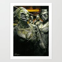 silent hill Art Prints featuring Silent Hill by Sprite Ideas
