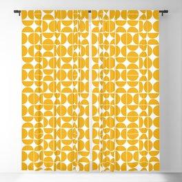 Mid Century Modern Geo 04B Yellow Blackout Curtain