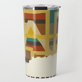 Connecticut state map modern Travel Mug