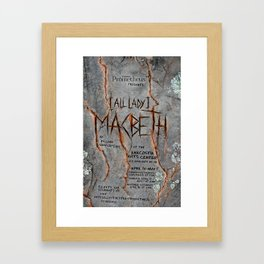 """Macbeth"" poster Framed Art Print"
