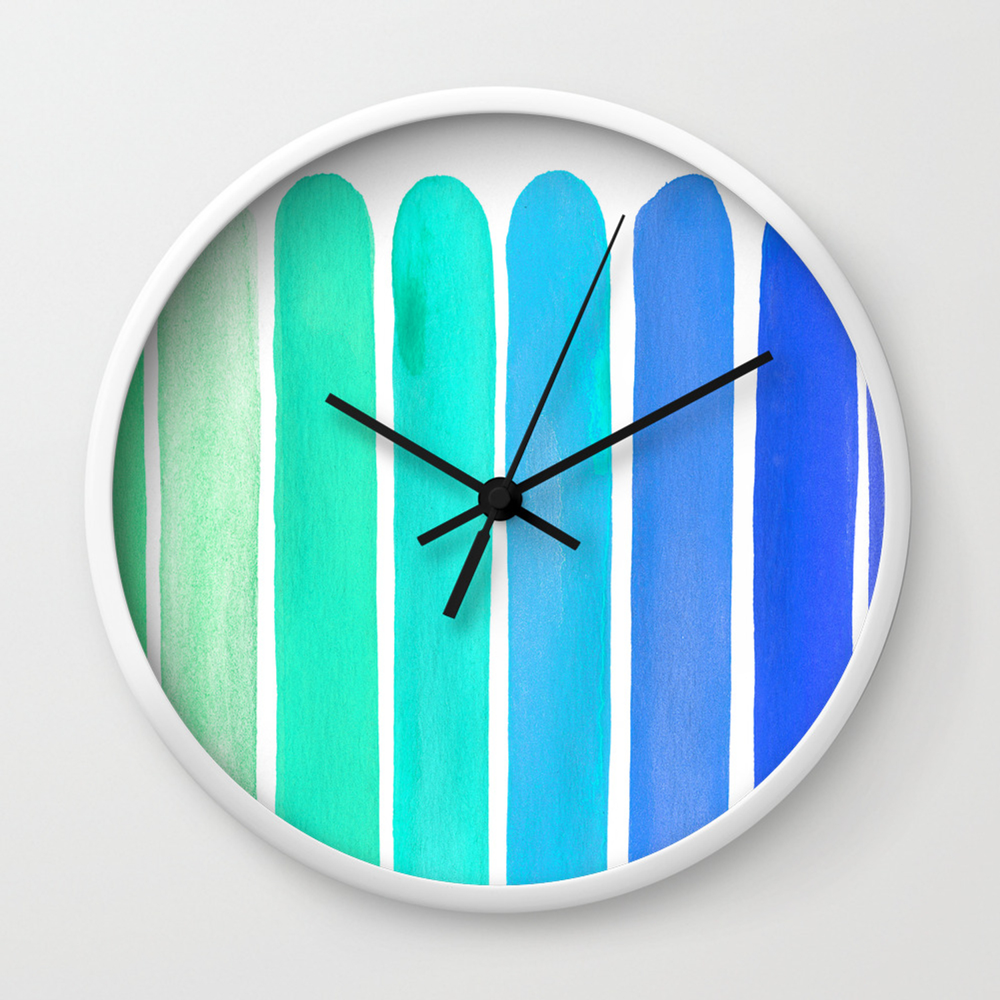 Ocean Blue Wall Clock by saraeshak